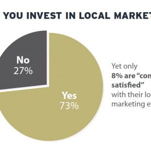 "Only 8% Of Brands ""Completely Satisfied"" With Local Marketing Efforts"